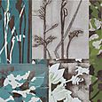 botanical monotype collage